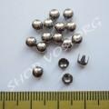 Крабик круглый 4 мм серебристый нержавейка, 10 шт