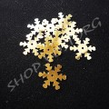 Снежинки золотистые 19 мм, 30 шт