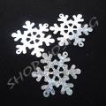 Снежинки голограммные 40 мм серебристые, 10 шт