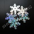 Снежинки голограммные 25 мм серебристые, 50 шт