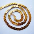 Пайетки на нитке золото голограмма, 1 м