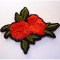 Термоаппликация Роза 7 см красная