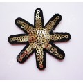 Термоаппликация пайетки Звезда восьмиконечная 5,5 см
