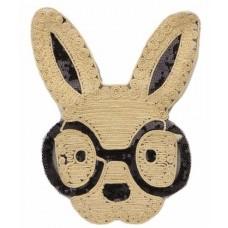 Аппликация с пайетками Заяц в очках