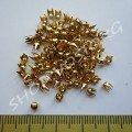 Крабик круглый 3 мм золотистый нержавейка, 20 шт