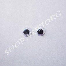 Глаза для игрушек с бегающими зрачками 6 мм, 10 пар