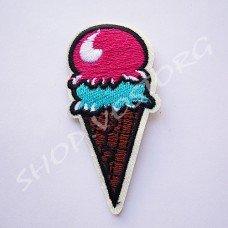 Термоаппликация Мороженое 7 см