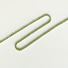 Цепь со стразами салатовые ss6 никель, 1м