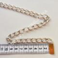 Цепь серебро звено 10х15 мм, 1м
