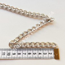 Цепь серебро звено 11x16 мм плотная, 1 м