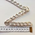 Цепь серебро звено 15х23 мм плотная, 1м