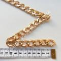 Цепь золото светлое звено 15х23 мм, 1м