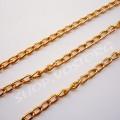 Цепь золото звено 3,5х6,5 мм, 1м