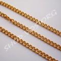 Цепь золото звено 5х7 мм, 1м