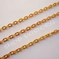 Цепь золото звено 2х3 мм, 1м