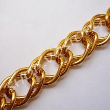 Цепь золото звено 24х43 мм, 1м
