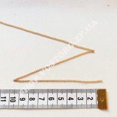 Цепь золото светлое звено 2х3 мм, 1м